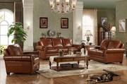 Caesar Palace American Classical Leather Sofa Set