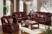 Caesar Palace American Style leather Sofa Set