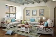 Mediterranean Style Solid Sofa Set
