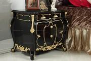 Neoclassical Style Retro Bedroom Nightstand